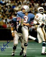 Signed 8x10 ROY GERELA  Houston Oilers  Autographed photo -w/COA