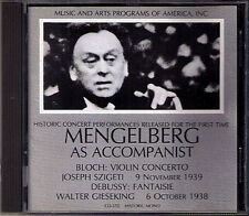 Mengelberg: Bloch Violin Concerto Debussy fantaisie Szigeti Gieseking m&a JP CD