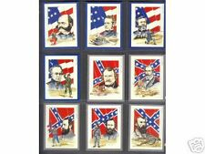 cigarette/trade cards - AMERICAN CIVIL WAR LEADERS - Mint condition full set