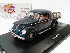 """Schuco 03894 # Volkswagen VW Käfer mit Anhänger in """" dunkelblau """" 1:43 NEU"""