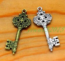 Tibetan silver charm pendant  crocodile necklace keys of key  2-30pcs 7.6g