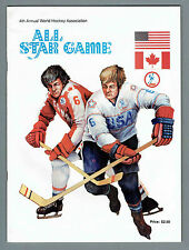 1975-76 WHA 4th All-Star Game Program, Cleveland, Howe(s), Hull, Keon, Cheevers