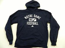 M72 ADIDAS Notre Dame Irish Fighting Football Hooded Sweatshirt Jacket MEN'S L