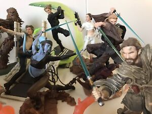 STAR WARS Hasbro UNLEASHED Action Statues - Loose LOT of 22