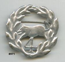 Insigne cavalerie , 4  Rgt.  de  Dragons  , ( estempé, 40x40 )