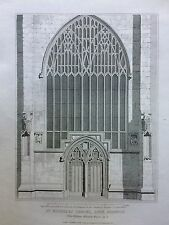 1811 Prints; Chapel of St Nicholas, West Door and Details, King's Lynn,  Norfolk