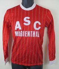 Retro Football Shirt Soccer Jersey Vtg 80s Trikot Maglia Red Camisa Maillot XS