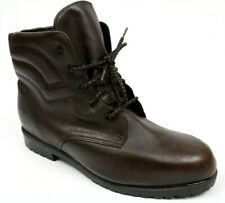 Regence Canada Womens Brown Leather Ankle Boots Booties Wool Lined Size 13 EE
