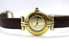 Cartier Must de Cartier Ardent Vermeil Silver Gold Plaque Quartz Ladies Watch