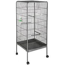 Volière cage à oiseaux canaries perruches perroquets metal 114,5x54x54cm