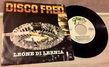 """LEONE DI LERNIA / DISCO FRED (parte 1 e 2) - 7"""" (Italy 1982) RARO !!!"""
