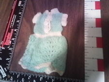 Barbie turquoise cocktail party dress knitted clothes lot 9 nice shape