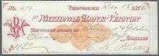 Scheck / Cheques USA - National Bank of Vernon - !! 1876  !!