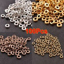 Wholesale 100Pcs Tibetan Silver/Gold Charms Spacer Beads Jewelry Findings 6MM