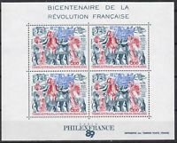 TAAF Bloc bicentenaire de la Révolution poste aerienne1989