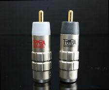 New 1 Paar TROMBA nonmagneitc gold 8-5mm RCA Signal Kabel Draht-Anschluss