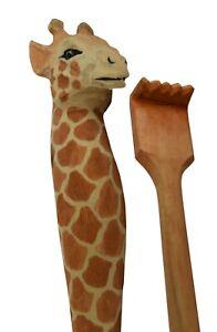 Back Scratcher for Men Women Wooden Backscratcher Handcrafted Animal Giraffe