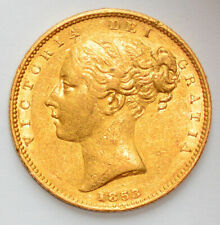 More details for detailed 1853 queen victoria young head gold shield sovereign