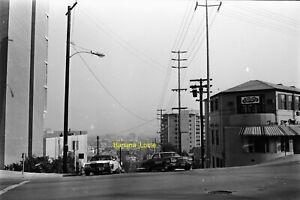 Original 35mm Negative - La Cienega & Sunset Blvd street scene early 1970s