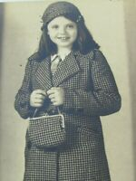 Antique Girl in Coat Mary Lowe 31358 Vintage 1930s Photo Photograph