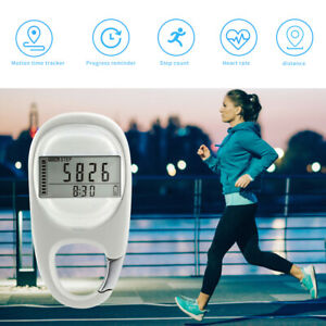 Outdoor Sports Calorie 3D Carabiner Pedometer Running Step Counter Meter