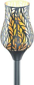 """Solar Waterproof Lights Metal Tulip Torches Flickering 36"""" Outdoor Landscaping"""