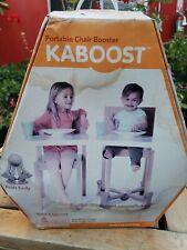 Kaboost Portable Chair Booster For Toddlers Beige With Box. Box is wet damage