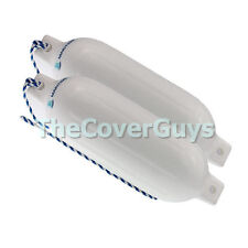 Boat Fender 580mm Maritime White Inflatable with Rope x 2