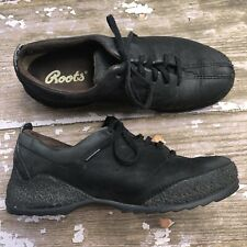 Roots Mens Black Suede Leather Oxford Shoes Classic Comfort Size 8.5 M