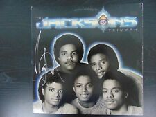 "Michael Jackson Hand Signed ""The Jacksons Triumph"" Album W/ Todd Mueller COA"