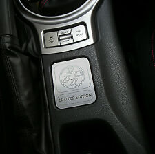 CONSOLE PLAQUE LIMITED EDITION 2013 14 15 16 2017 TOYOTA GT86 SCION FR-S FRS #9