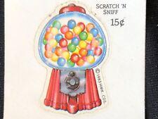 1 VINTAGE 80's HALLMARK BUBBLE GUM SNIFF STICKER