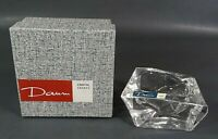Vintage DAUM Nancy France Crystal Glass Ashtray Bowl w/Box & Label ~Signed