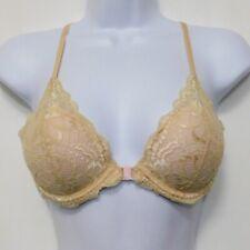 Victorias Secret PINK Date Racerback Push Up Bra 34B Lace Nude