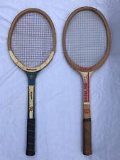 Wilson Jimmy Connors Baseline & Bancroft Champion Wooden Tennis Rackets Vintage