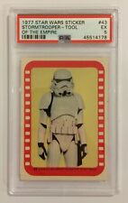 1977 TOPPS STAR WARS STICKER CARD - SERIES 4: GREEN - #43 STORMTROOPER - PSA 5