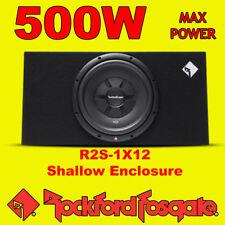 """Rockford Fosgate 12"""" pulgadas 500 W Car Audio Subwoofer superficial delgado superficial bajo Caja"""