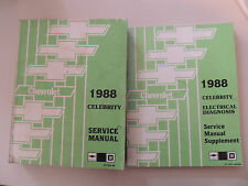 Chevrolet Celebrity1988 Shop Workshop Service manual Werkstatthandbuch