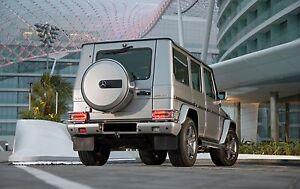 Mercedes Benz G Class W463-G500-G63-G55-G550 AMG Rear Bumper light guards Chrome