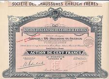 Sociéte des Chaussures Ehrlich Fréres-Action 100 Francs von 1928
