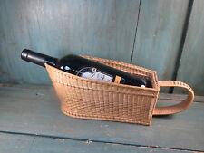 Ancien casier porte-bouteille Panier osier Vintage Bistrot vin vigne oenologue