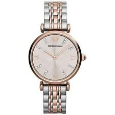 Emporio Armani AR1840 Classic Rose Gold Silver Stainless Steel Women's Watch