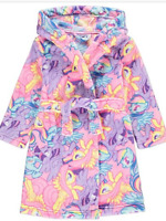 Girls My Little Pony Fleece Hooded Dressing Gown Robe Age's 5-12 Years
