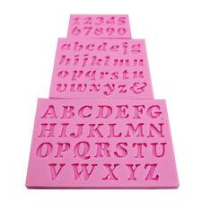 3pcs Mini Letter&Number Silicone Handmade Fondant Cake Decorating DIY Mould New
