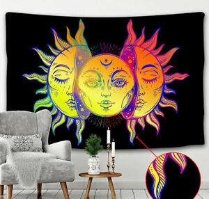 Sun & Moon Twin Tapestry Wall Hanging Hippie Bohemian Home Decor Mandala Art