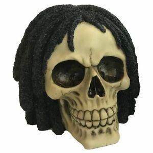 Gothic Fantasy Rasta Skull Ornament