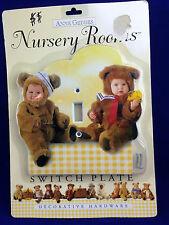 Anne Geddes Nursery Rooms light switch plate yellow gingham baby bears NIB