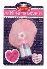 Milk Bottle and Bib Set by Melissa & Doug Brand New Free Expedited Shipping