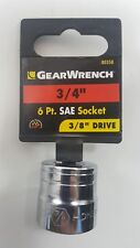 """GearWrench 3/4"""" SAE Standard 6 Point Socket 3/8"""" Drive 80358"""