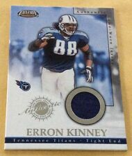 2002 Pacific Football Erron Kinney Game-Used Jersey Patch Card
